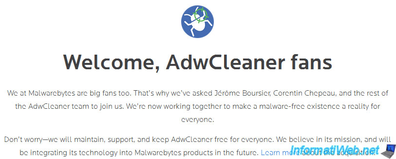 adwcleaner xplode general changelog team