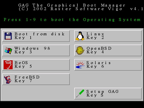 GAG (Graphical Boot Manager)