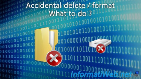 Accidental delete / format - What to do ?
