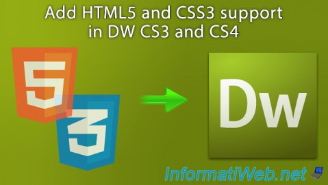 Add HTML5 and CSS3 support in DW CS3 and CS4