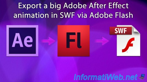Adobe After Effect - Export a big animation in SWF