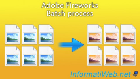 Adobe Fireworks - Batch process
