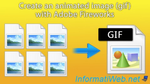 Adobe Fireworks - Create an animated image (gif) from multiple images