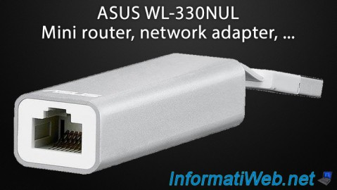 ASUS WL-330NUL - Mini router, network adapter, ...