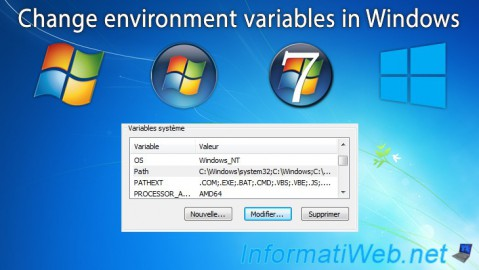 Change environment variables in Windows