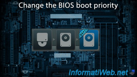 Change the BIOS boot priority