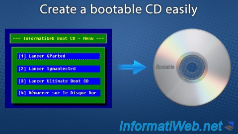 Create a bootable CD easily