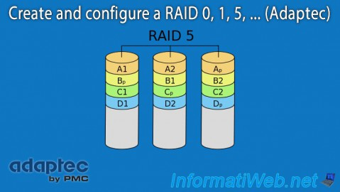 Create and configure a RAID 0, 1, 5, ... (Adaptec)