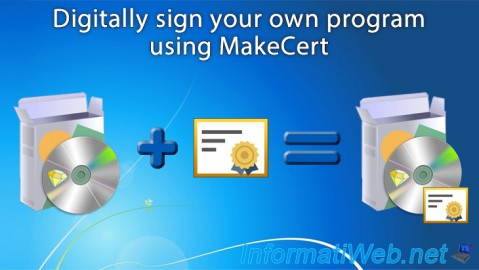 Digitally sign your own program