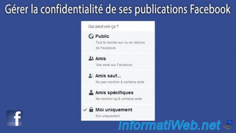 Facebook - Manage the privacy of its publications