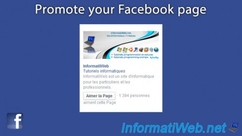 Facebook - Promote your Facebook page