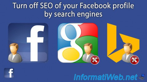 Facebook - Turn off SEO of your profile by search engines