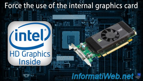 Force the use of the internal graphics card (Onboard VGA)
