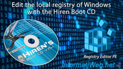 Edit the local registry of Windows with the Hiren Boot CD (HBCD)