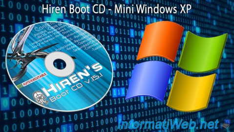 Complete presentation of the features of the Mini XP of Hiren Boot CD