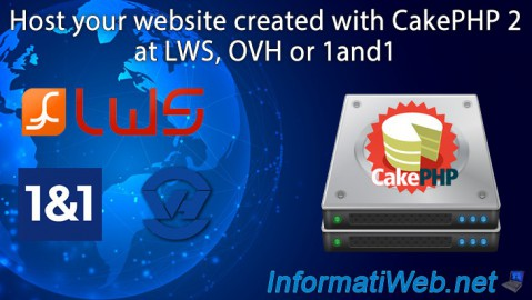 Host your CakePHP 2 website at LWS, OVH or 1and1