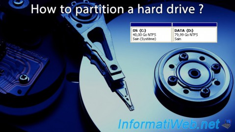 How to partition a hard drive ?