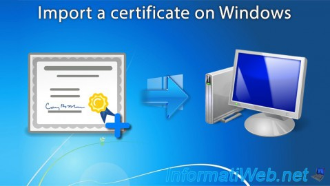Import a certificate on Windows