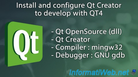 Install and configure Qt Creator to develop with QT4