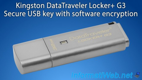 Kingston DataTraveler Locker+ G3 - Secure USB key