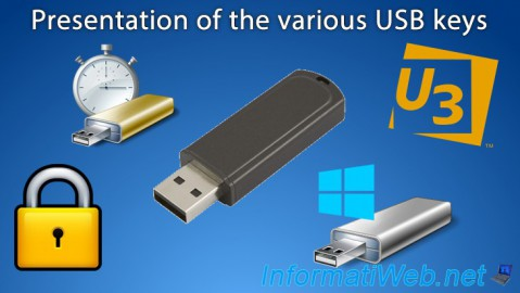 Presentation of the various USB keys sold on the Internet