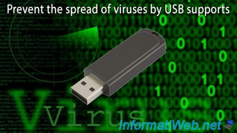 Prevent the spread of viruses by USB supports
