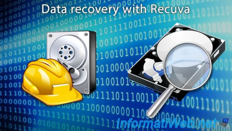 Data recovery with Recuva