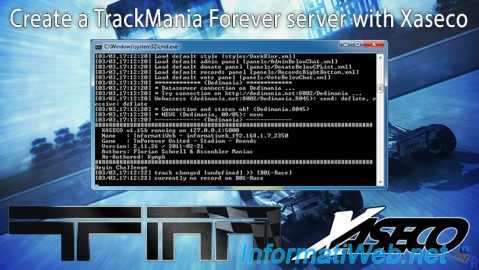 TrackMania Forever - Create a server with Xaseco