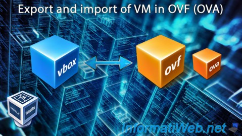 VirtualBox - Export and import of VM in OVF (OVA)