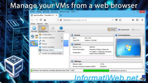 VirtualBox - Manage your VMs from a web browser