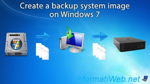 Create a Windows 7 system image and restore it from Windows or from its installation DVD