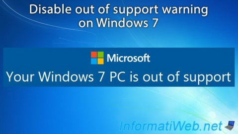 Windows 7 - Disable out of support warning