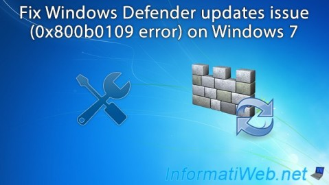 Windows 7 - Fix Windows Defender updates issue