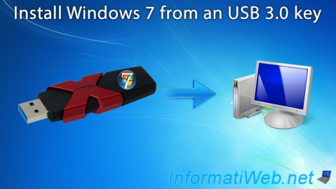 Install Windows 7 from an USB 3.0 key (plugged into an USB 3.0 port)