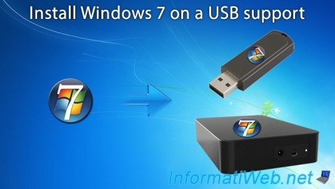 Windows 7 - Installation on an USB support
