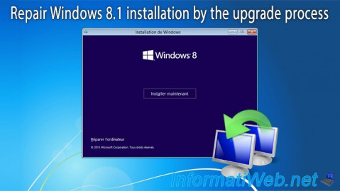 Repair Windows 8.1 installation by the upgrade process