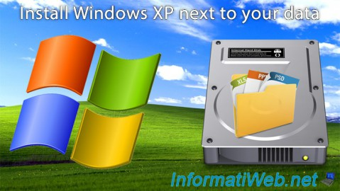 Windows XP - Installation next to your data