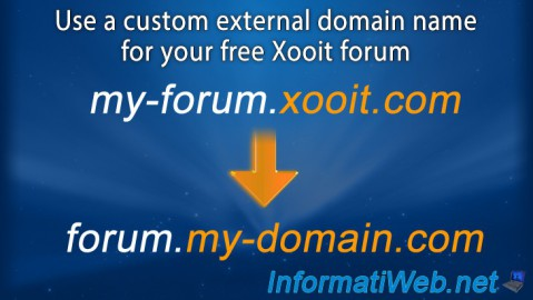 Use a custom external domain name for your free Xooit forum