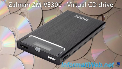 Zalman ZM-VE300 - Virtual CD drive and case for External HDD (or SSD)